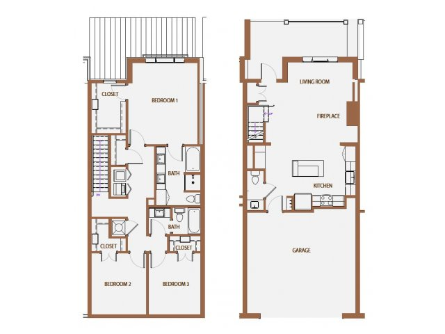1,656 sq. ft. TH floor plan