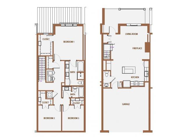 1,656 sq. ft. TH floor plan