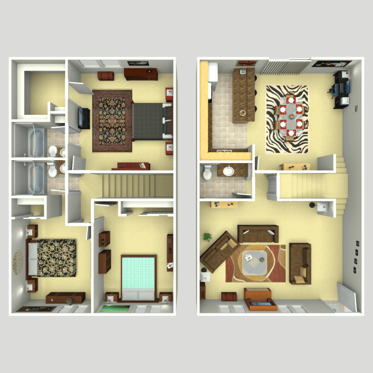 1,600 sq. ft. C2 floor plan
