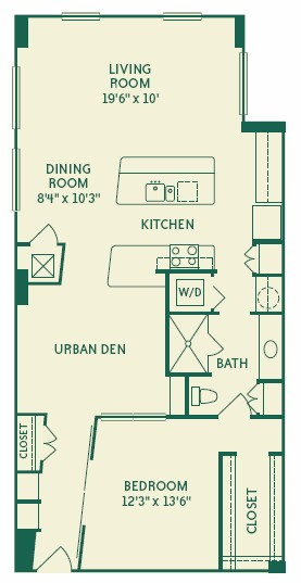 1,164 sq. ft. 2A5 floor plan