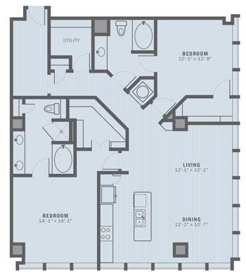 1,512 sq. ft. B5 floor plan
