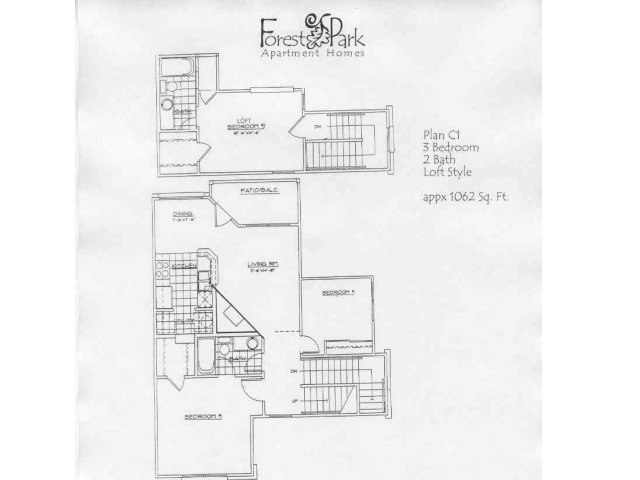 1,160 sq. ft. B2N floor plan