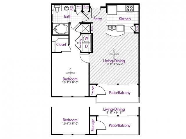 754 sq. ft. floor plan
