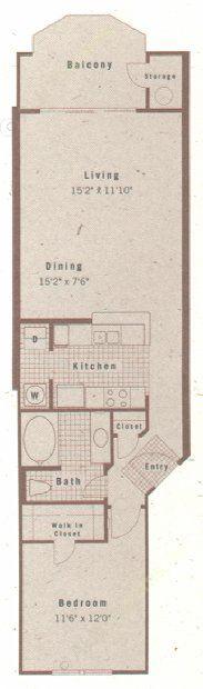 776 sq. ft. A1 floor plan