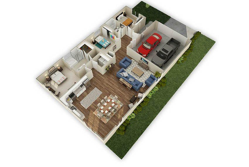 1,898 sq. ft. Redwood floor plan