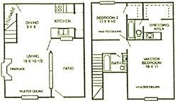 1,144 sq. ft. Cypress floor plan