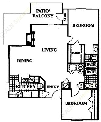 1,084 sq. ft. Altamonte floor plan
