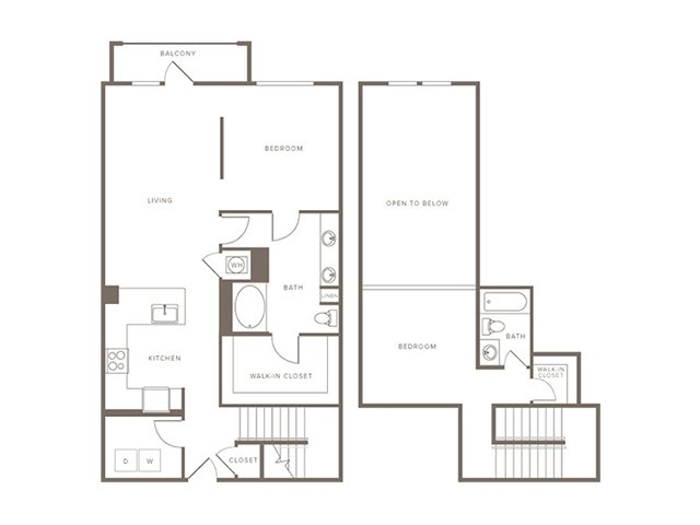 1,287 sq. ft. B11L floor plan
