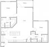 1,093 sq. ft. B2 floor plan