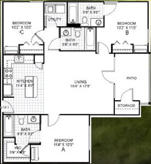 1,182 sq. ft. floor plan