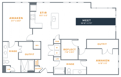 1,858 sq. ft. B3B floor plan
