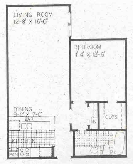 704 sq. ft. A2B floor plan