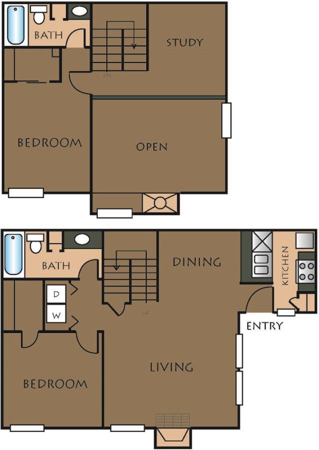 1,186 sq. ft. C-1 floor plan