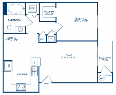 700 sq. ft. APPALOOSA floor plan