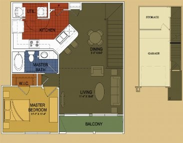 861 sq. ft. Agarita floor plan
