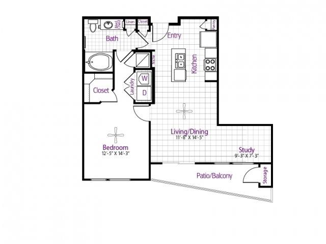 775 sq. ft. floor plan