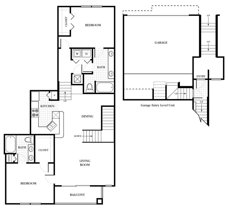 1,239 sq. ft. Bromley floor plan
