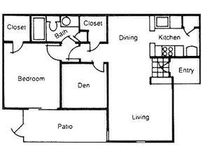 771 sq. ft. floor plan