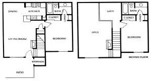 1,010 sq. ft. C floor plan