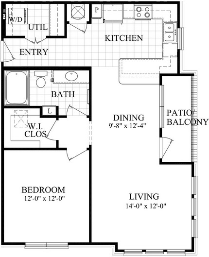 849 sq. ft. B5 floor plan