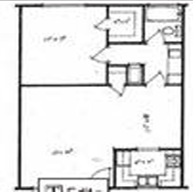 739 sq. ft. 1X1 floor plan