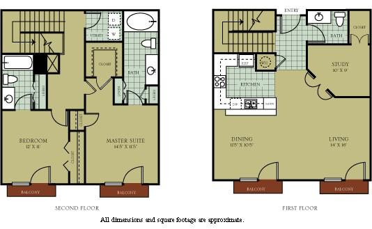1,379 sq. ft. to 1,507 sq. ft. Versailles floor plan