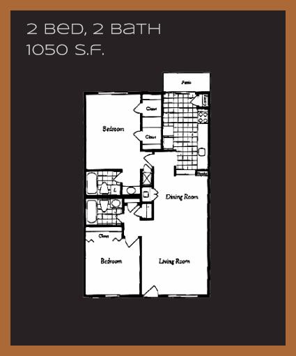 1,050 sq. ft. I floor plan