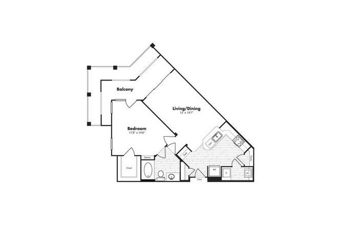 826 sq. ft. Cayman w/Gar floor plan