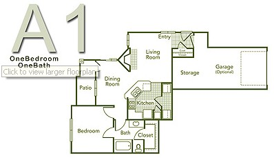 781 sq. ft. A1 PR floor plan