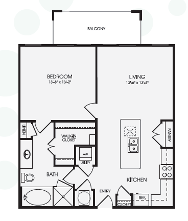 812 sq. ft. High Bank/A9 floor plan