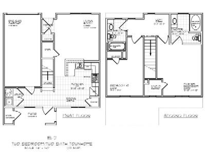 1,112 sq. ft. B2 50% floor plan