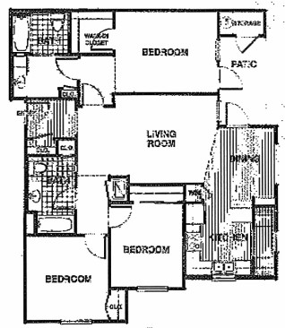 1,196 sq. ft. C2/60% floor plan