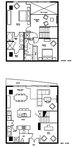 1,994 sq. ft. PH4 floor plan