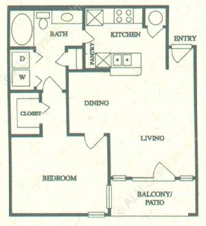 703 sq. ft. A floor plan