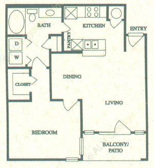 703 sq. ft. A floor plan