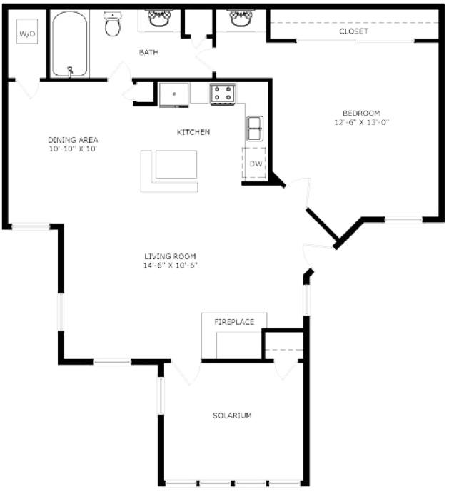 829 sq. ft. Saratoga floor plan