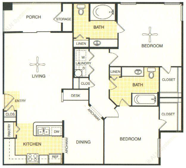 1,144 sq. ft. San Saba floor plan