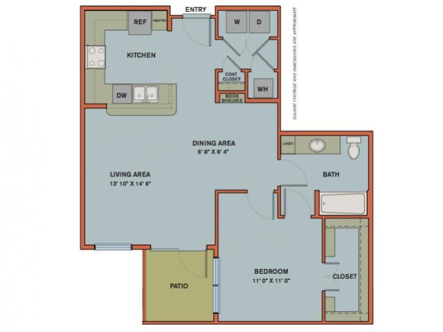 812 sq. ft. A12.2 floor plan