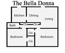 873 sq. ft. G2/1B floor plan