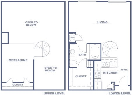 878 sq. ft. AXLWR floor plan