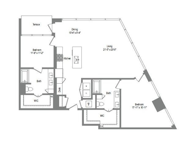 1,502 sq. ft. B9 floor plan