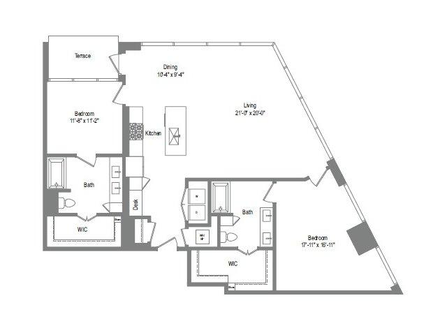 1,502 sq. ft. B9 floor plan