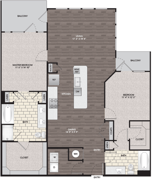 1,476 sq. ft. B7 floor plan
