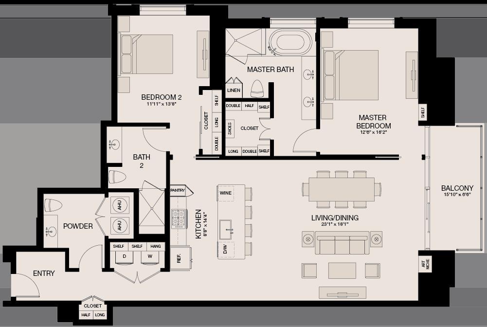 1,664 sq. ft. floor plan