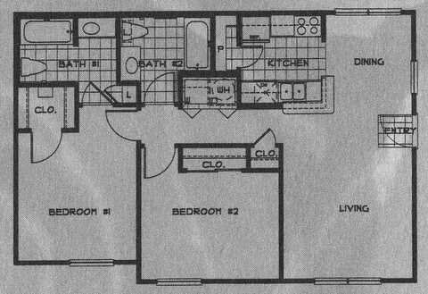 917 sq. ft. 60 floor plan
