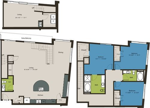 1,852 sq. ft. B2A floor plan