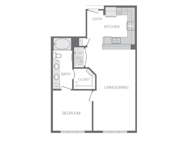 784 sq. ft. C floor plan