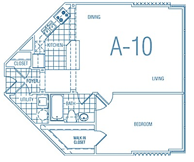 804 sq. ft. A10 60% floor plan