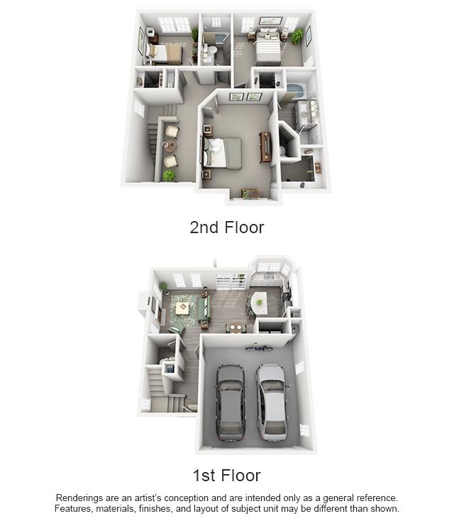 1,374 sq. ft. SUMMIT/HOUSE floor plan