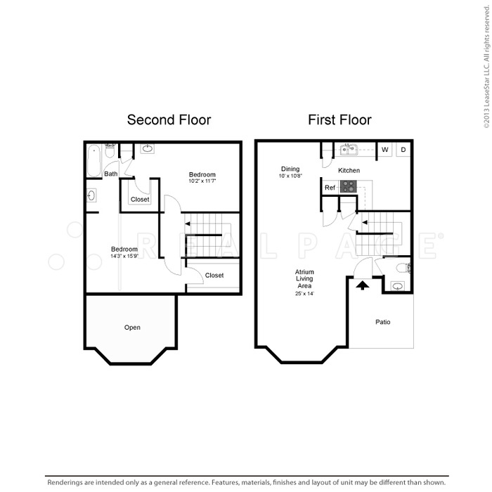 1,370 sq. ft. floor plan